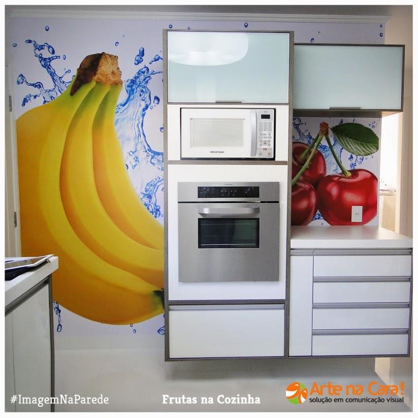 Imagem de frutas na parede by Arte na Cara! Água, banana e cereja :) ficou lindo né?! by artenacara