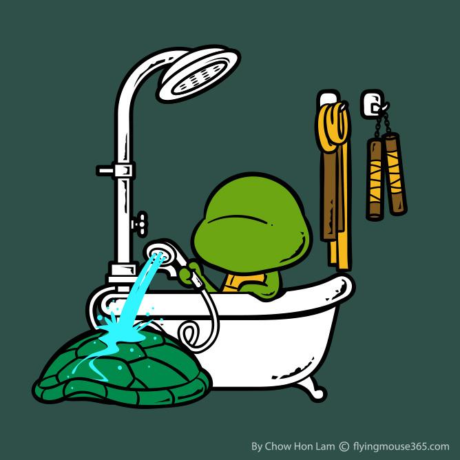 Banho e Ducha Shell We Clean - Tartarugas Ninja Chow Hon Lam